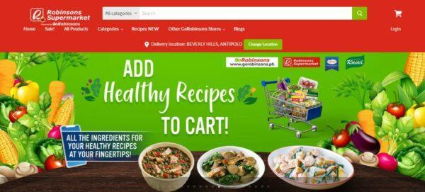 Online Grocery Delivery in the Philippines - GoRobinsons