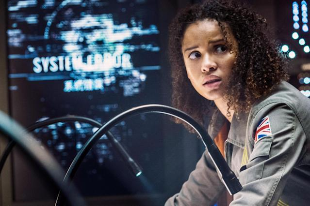 Gugu Mbatha-Raw stars in the Netflix dud <em>The Cloverfield Paradox.</em> (Photo: Scott Garfield/Netflix/Courtesy Everett Collection)