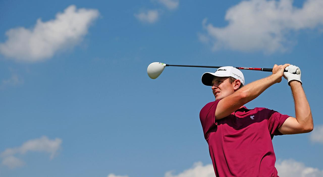 ATLANTA, GA - SEPTEMBER 21:  Justin Rose of England watches his tee shot on the seventh hole during the second round of the TOUR Championship by Coca-Cola at East Lake Golf Club on September 21, 2012 in Atlanta, Georgia.  (Photo by Kevin C. Cox/Getty Images)