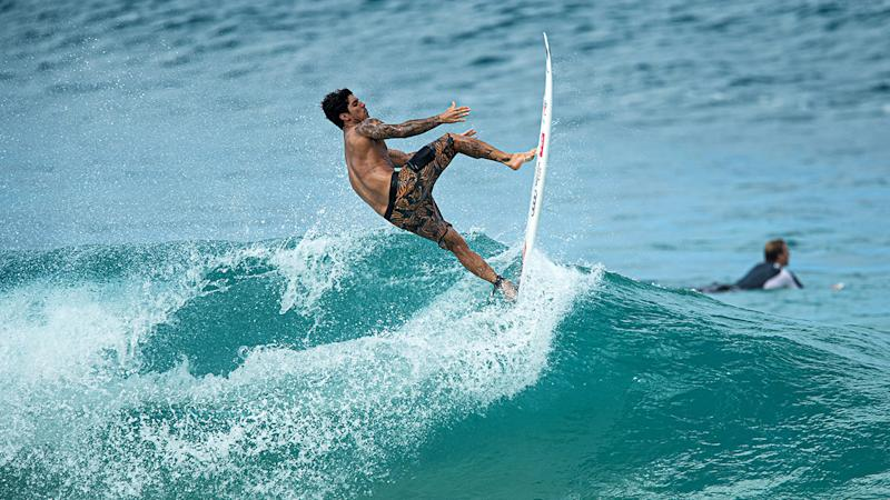 Gabriel Medina, pictured here in action at the Pipe Masters.