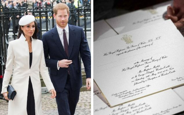 Prince Harry and Meghan Markle have posted invitations, right, to 600 guests - Samir Hussein / Victoria Jones