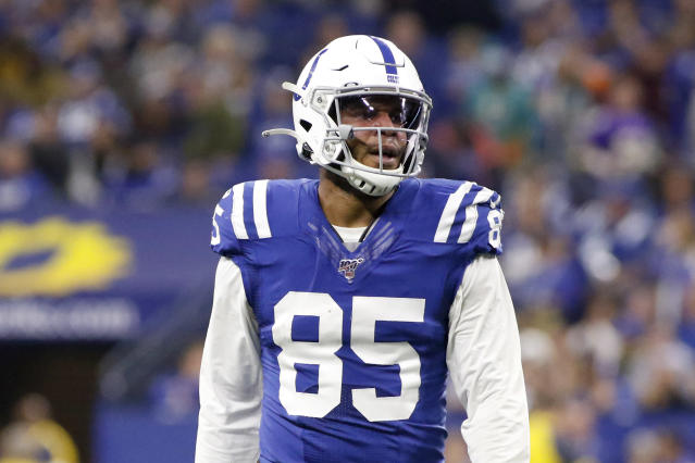 Eric Ebron's decision to have ankle surgery reportedly ruined his chances of staying with the Colts. (Photo by Justin Casterline/Getty Images)