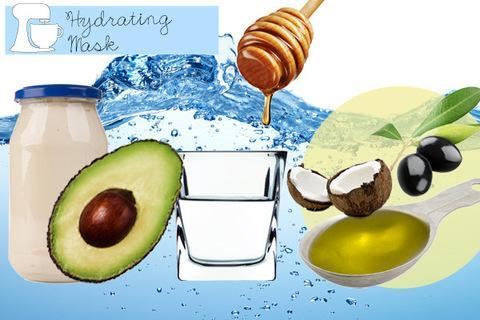 """<div class=""""caption-credit""""> Photo by: Thinkstock</div><p> <b>Hydrating Mask</b> <br> Honey and mayonnaise work together to target dry, coarse strands and instantly make them glossy. Mix half a ripe avocado, a quarter cup mayonnaise, one tablespoon each of coconut oil, olive oil and honey, and two ounces of water. Work the mask into your scalp to soothe dryness, then massage it in from roots to ends to maximize all-over shine. </p> <p> <a href=""""http://www.youbeauty.com/hair/galleries/hair-oils"""" rel=""""nofollow noopener"""" target=""""_blank"""" data-ylk=""""slk:"""" class=""""link rapid-noclick-resp""""><br></a> </p>"""