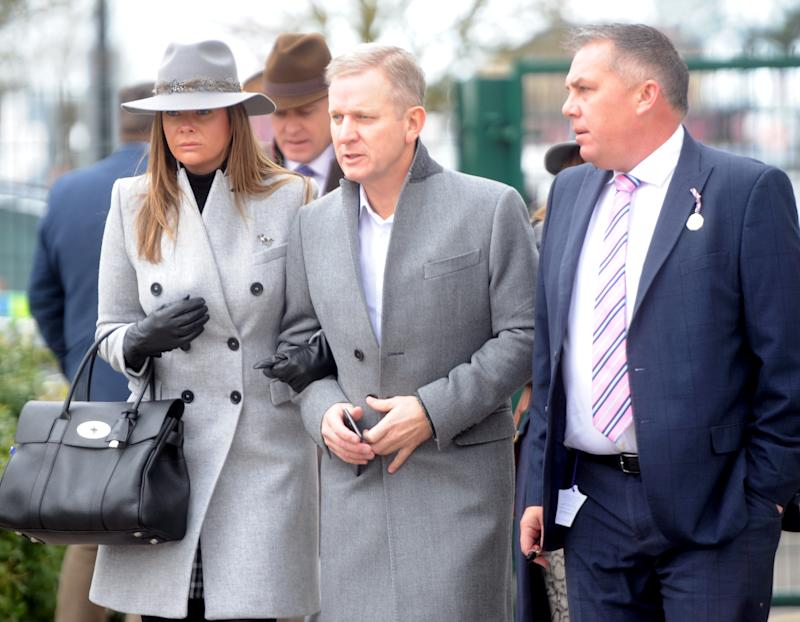 Jeremy Kyle at Ladies Day The Festival Cheltenham on Wednesday March 13 2019. PHOTOGRAPH BY Paul Nicholls / Barcroft Images (Photo credit should read PAUL NICHOLLS / Barcroft Media via Getty Images)