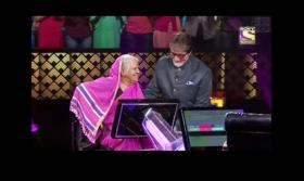 Whose feet did Amitabh Bachchan touch to seek blessings on sets of KBC season 11?