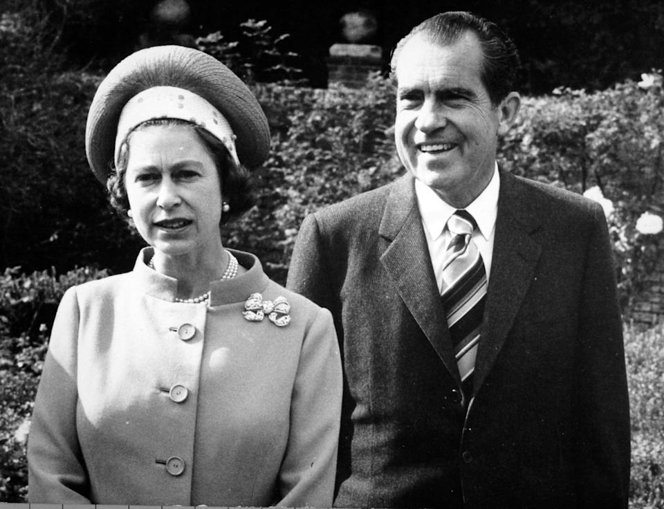The Queen and Nixon, in 1970 (PA)