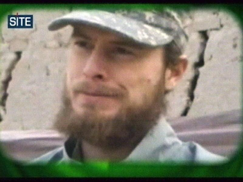 "FILE - This image made from video released Wednesday April 7, 2010 by the Taliban via the Site Intelligence Group shows U.S. soldier then Pfc. Bowe Bergdahl. Afghanistan's Taliban says it has suspended ""mediation"" with the United States to exchange captive U.S. soldier Sgt. Bowe Bergdahl for five senior Taliban prisoners held in U.S. custody in Guantanamo Bay, halting — at least temporarily — what was considered the best chance yet of securing the 27-year-old's freedom since his capture in 2009. In a terse Pashto language statement emailed to the Associated Press on Sunday, Zabihullah Mujahed blamed the ""current complex political situation in the country"" for the suspension. (AP Photo/Site Intelligence Group, File) MANDATORY CREDIT: SITE INTELLIGENCE GROUP; ON-SCREEN LOGO MUST NOT BE OBSCURED; NO SALES"