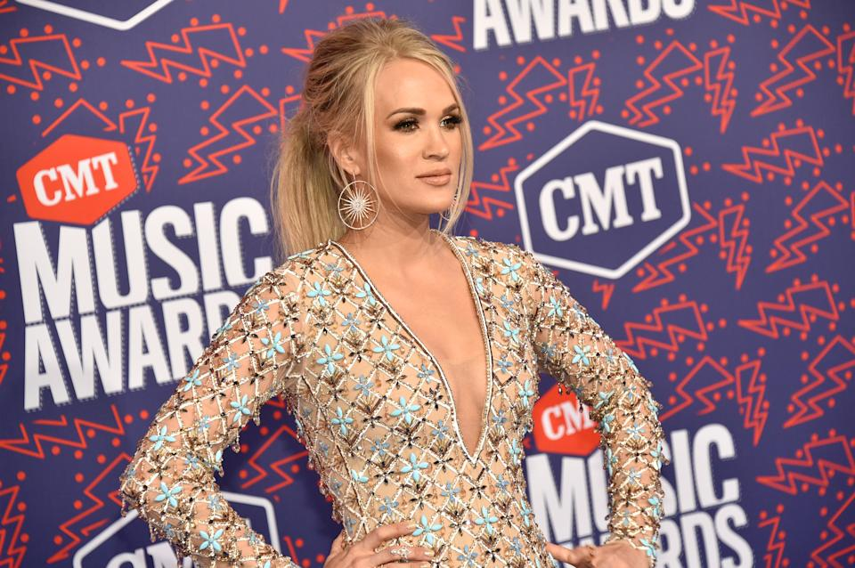 Carrie Underwood poses at an event