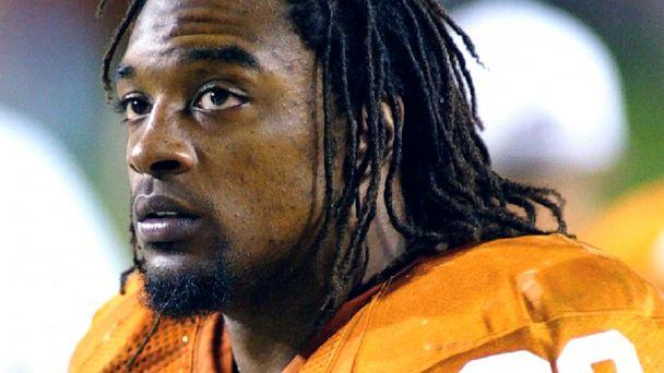 PHOTO: Texas running back Cedric Benson is shown in the bench area during the fourth quarter of his team's 56-35 victory over Oklahoma State in Austin, Texas, Nov. 6, 2004. (Harry Cabluck/AP, FILE)
