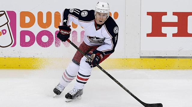 NEW YORK (AP) Columbus Blue Jackets forward Matt Calvert was suspended one game for his cross-check to Pittsburgh's Tom Kuhnhackl late in the third period of a Game 2 loss to the Penguins.