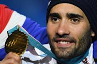 <p>French biathlete Martin Fourcade will leave PyeongChang with not one, but two gold medals. The 29-year-old also sports a neat beard that we assume provides a bit of extra protection against the elements that assumedly comes in handy when skiing from target range to target range. (Getty) </p>