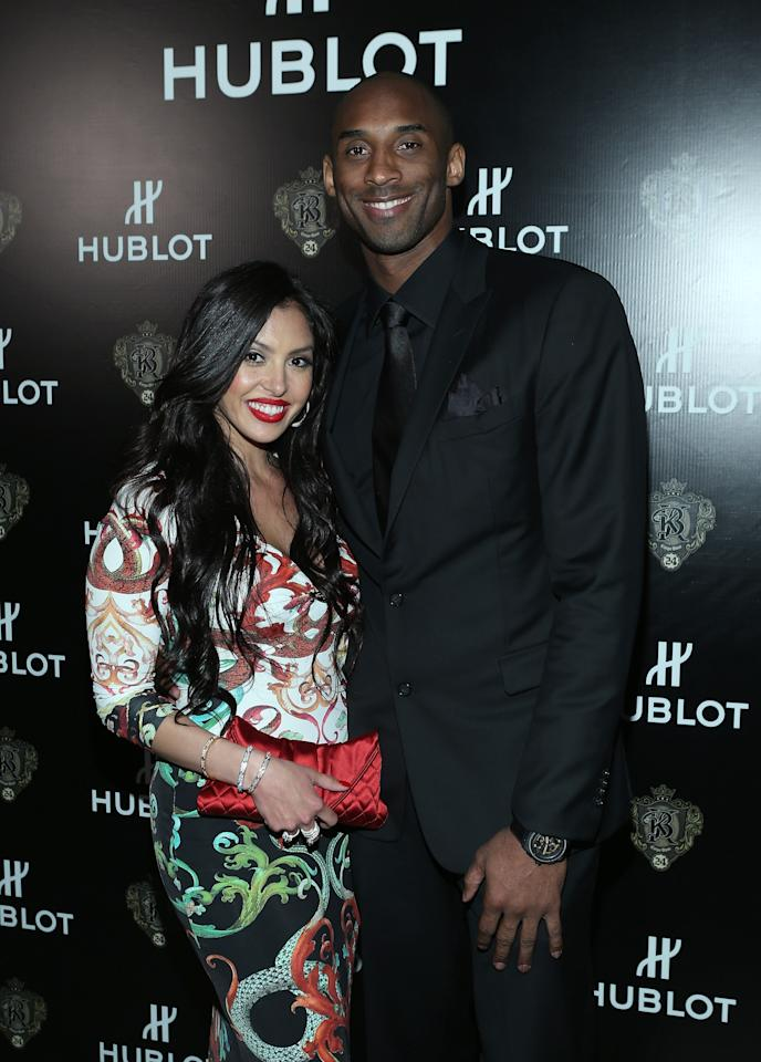 LOS ANGELES, CA - MARCH 20:  Vanessa Bryant and Los Angeles Laker Kobe Bryant attend the celebration of Hublot's new brand ambassador Kobe Bryant on March 20, 2013 in Los Angeles, California.  (Photo by Jesse Grant/Getty Images for Hublot)