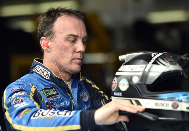 "<a class=""link rapid-noclick-resp"" href=""/nascar/sprint/drivers/205/"" data-ylk=""slk:Kevin Harvick"">Kevin Harvick</a> has won five of 15 races in 2018. (AP Photo/Derik Hamilton)"