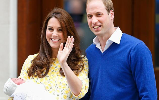 The Duke and Duchess of Cambridge leave the Lindo Wing with Princess Charlotte last May.