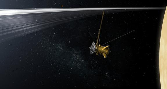NASA's Cassini spacecraft will zip between Saturn and the planet's innermost set of rings repeatedly during the final phase of the probe's mission in 2016-2017.