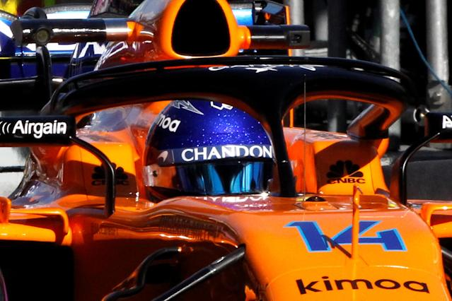 Formula One F1 - Australian Grand Prix - Melbourne Grand Prix Circuit, Melbourne, Australia - March 23, 2018 McLarenÕs Fernando Alonso in action during practice REUTERS/Brandon Malone