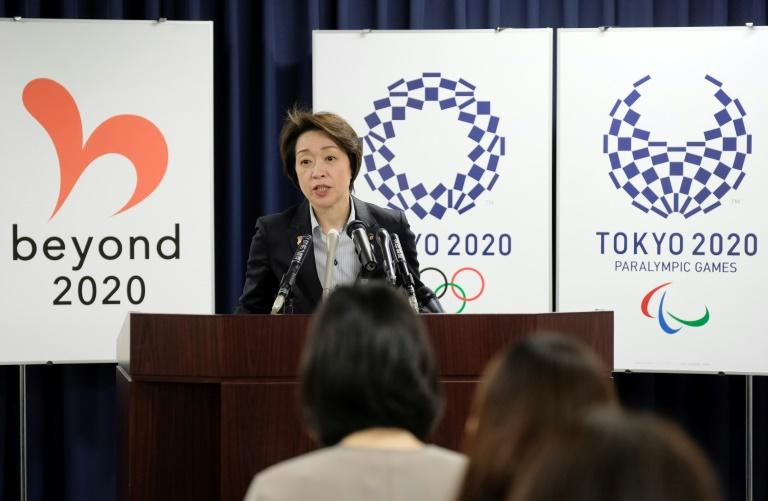Seiko Hashimoto, minister for the Tokyo Olympic and Paralympic Games, speaks during a press conference in Tokyo
