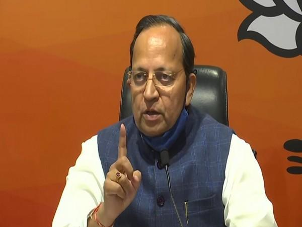 BJP national general secretary, Arun Singh addressing a press conference in New Delhi on Sunday. Photo/ANI