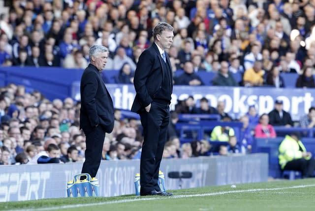 One of the last images of Ancelotti's reign, the Italian was sacked in the corridor at Goodison Park (Peter Byrne/PA)