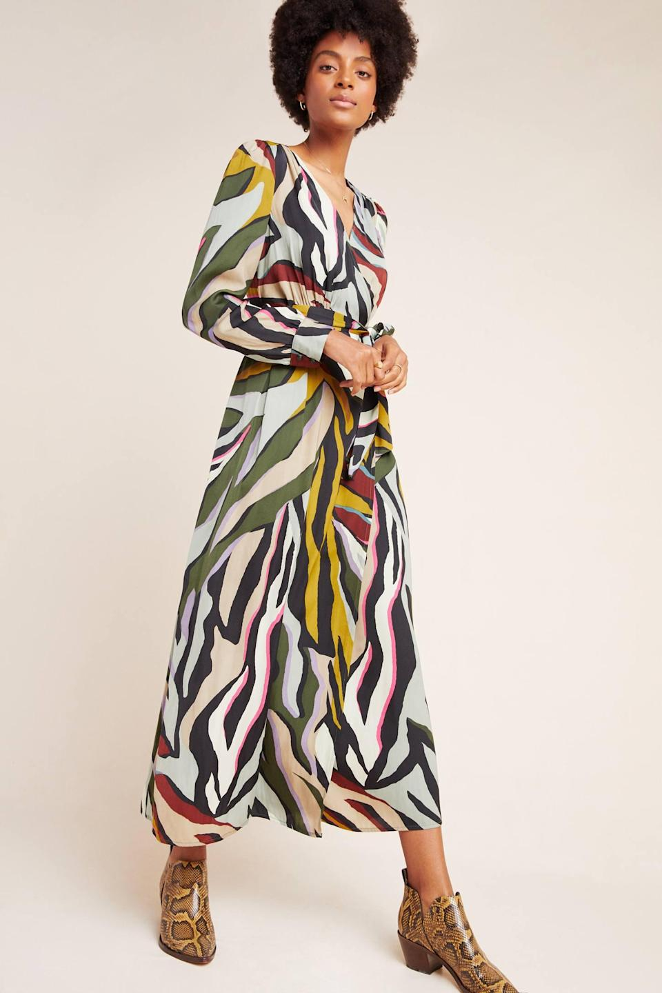 """<p><strong>Corey Lynn Calter</strong></p><p>anthropologie.com</p><p><strong>$198.00</strong></p><p><a href=""""https://go.redirectingat.com?id=74968X1596630&url=https%3A%2F%2Fwww.anthropologie.com%2Fshop%2Fcorey-lynn-calter-zebra-wrap-dress&sref=http%3A%2F%2Fwww.townandcountrymag.com%2Fstyle%2Ffashion-trends%2Fg26522706%2Fbest-dresses-for-older-women%2F"""" rel=""""nofollow noopener"""" target=""""_blank"""" data-ylk=""""slk:Shop Now"""" class=""""link rapid-noclick-resp"""">Shop Now</a></p><p>Modest doesn't have to mean boring: case in point, this artsy patterned dress with long sleeves, and a maxi hem. </p>"""