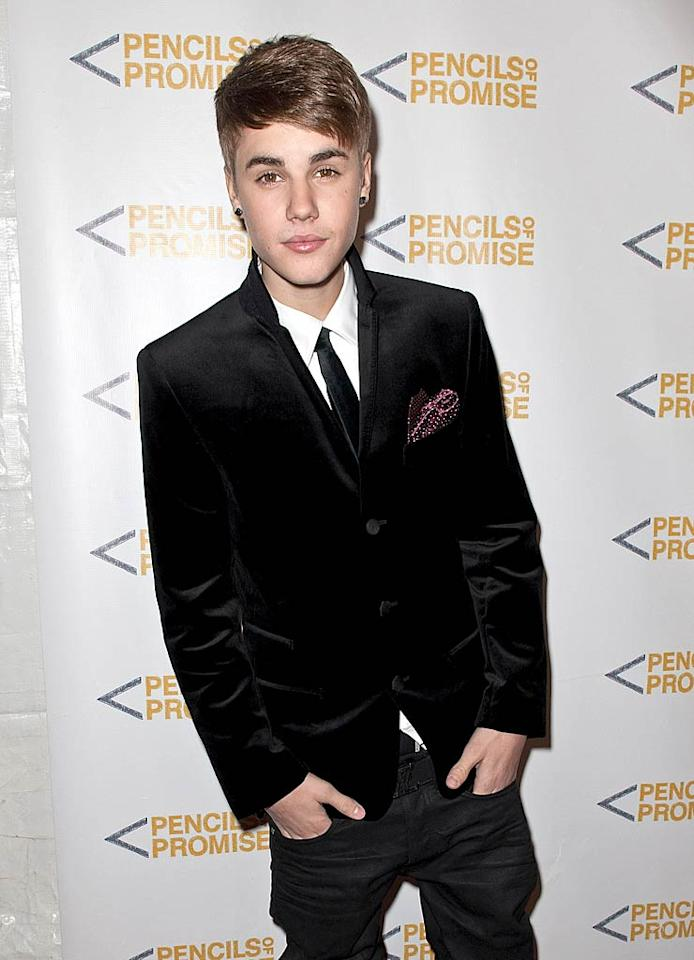 "Justin Bieber was suave in a Dolce & Gabbana suit while supporting one of his favorite charities, Pencils of Promise, at its 2011 gala at Espace in NYC on Thursday. While the teen idol was there, he talked to <a href=""http://extratv.warnerbros.com/2011/11/justin_bieber_exclusive_paternity_test_still_on.php"">""Extra""</a> about the now-dropped paternity lawsuit that Mariah Yeater filed, claiming her son was his. The pop star revealed that he still plans to take a paternity test, and that his team remains interested in filing a lawsuit against Yeater. ""We don't want it to seem like it's okay for everyone to say, like, 'I had Justin's baby or [I'm] having his baby,'"" Justin explained. (11/17/2011)"