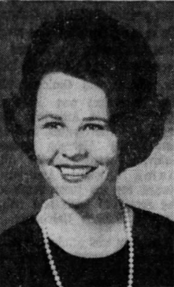 Kay Ivey, as seen in a wedding announcement in the Montgomery Advertiser in 1967.