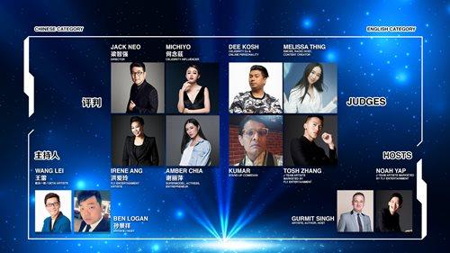 "The hosts and judges of ""Show off Show"" are grouped into two categories: Chinese and English."