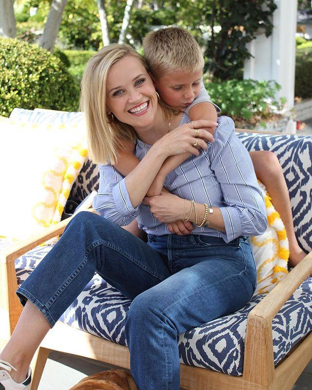 """<p>'Every working mother has to balance work and the children and just enjoy it, because it all goes very fast!' Reese told <a href=""""https://www.usmagazine.com/celebrity-moms/news/reese-witherspoon-war-horse-201292/"""" rel=""""nofollow noopener"""" target=""""_blank"""" data-ylk=""""slk:Us Weekly"""" class=""""link rapid-noclick-resp"""">Us Weekly</a>.</p><p><a href=""""https://www.instagram.com/p/B3aEByXgz1J/"""" rel=""""nofollow noopener"""" target=""""_blank"""" data-ylk=""""slk:See the original post on Instagram"""" class=""""link rapid-noclick-resp"""">See the original post on Instagram</a></p>"""