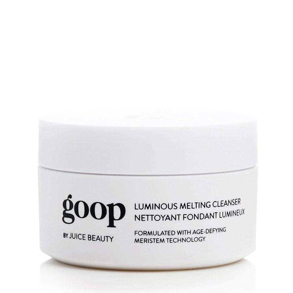 """<p>Sure, the extravagant products sold on Paltrow's Goop are easy to mock, but they're also hard to resist. For instance, would anyone refuse to try the pricey, but well-reviewed makeup remover that Paltrow swears by if it just <em>happened </em>to show up under your tree? No way! This is the perfect gift for your friend who would never buy this luxe product for herself.<br><br><strong>Buy: <a href=""""https://shop.goop.com/shop/products/luminous-melting-cleanser"""" rel=""""nofollow noopener"""" target=""""_blank"""" data-ylk=""""slk:Goop"""" class=""""link rapid-noclick-resp"""">Goop</a></strong> </p>"""