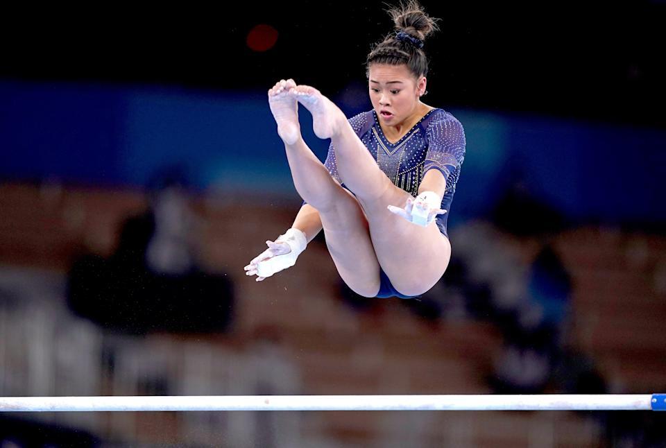 USA's Sunisa Lee during the Women's Uneven Bars Final (Mike Egerton/PA)