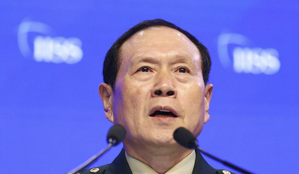 China's Defence Minister Wei Fenghe says China needs to bolster its fighting spirit. Photo: AP