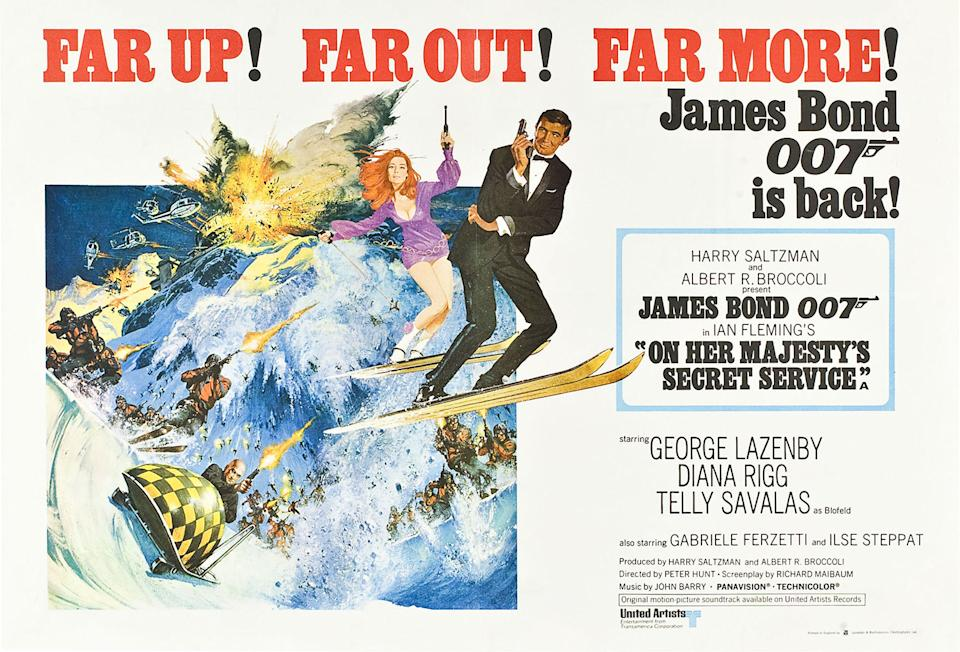 George Lazenby quit 007 after just one film (he rues the decision to his day), but his one outing as Bond has left an indelible mark on the series. Its unforgettable mountain-set Blofeld battle is topped off with the series' biggest ever downer ending - it's the franchise's <em>Empire Strikes Back</em> and fans can't get enough of it. (Eon/MGM)