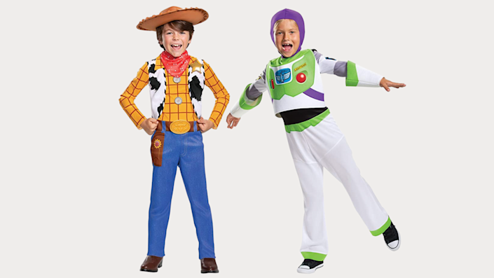 Sibling Halloween costumes: Woody and Buzz Lightyear