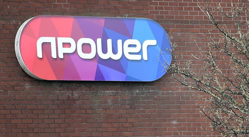 A picture shows the logo on the front of an office of British energy supplier npower in Hull, northeast England, on March 8, 2016. British energy supplier npower, a unit of Germany's RWE, said it will axe 2,400 jobs after posting an annual loss on fierce competition, sliding sales and operational problems. / AFP / PAUL ELLIS (Photo credit should read PAUL ELLIS/AFP via Getty Images)