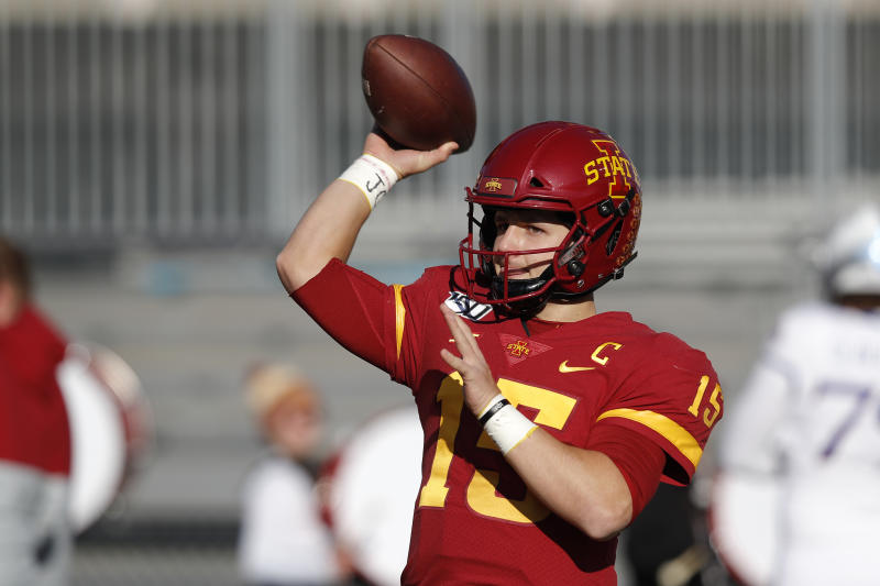 Iowa State could win eight games for a third-straight season. (AP Photo/Matthew Putney)