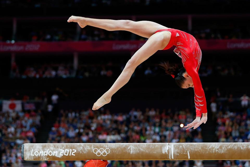 <p>Kyla Ross had great potential for these games, being that she was the youngest member of the Fierce Five and she didn't skip a beat in training following London. (Getty) </p>