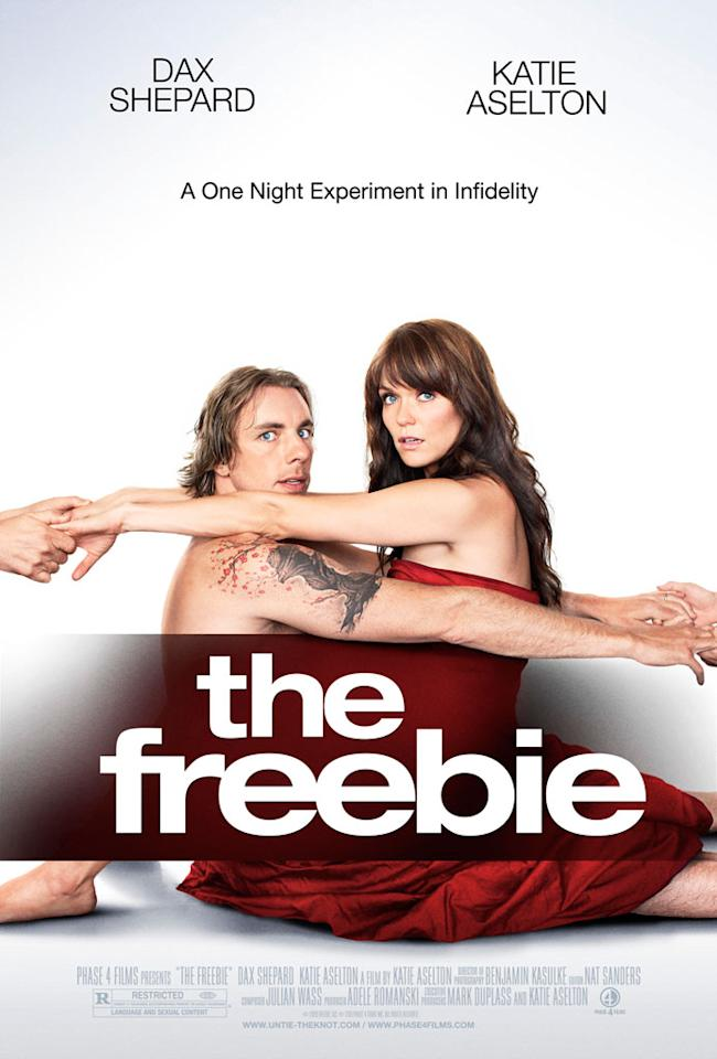 """<a href=""""http://movies.yahoo.com/movie/contributor/1808523289"""">Dax Shepard</a> and <a href=""""http://movies.yahoo.com/movie/contributor/1808644419"""">Katie Aselton</a> star in Phase 4 Films' <a href=""""http://movies.yahoo.com/movie/1810129766/info"""">The Freebie</a> - 2010"""