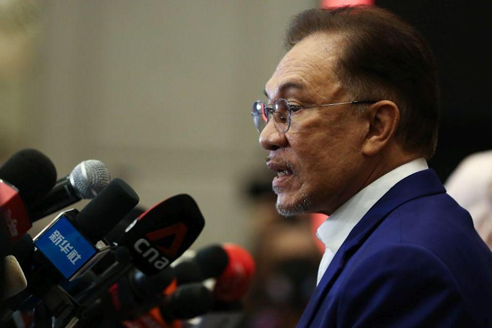 Datuk Seri Anwar Ibrahim said that in arguing for secularism, French president Emmanuel Macron had resorted to demonising and dehumanising Islam rather than engage in discussion, pointing out the dangers of such sweeping misrepresentations lead to a cycle of violence. — Picture by Yusof Mat Isa