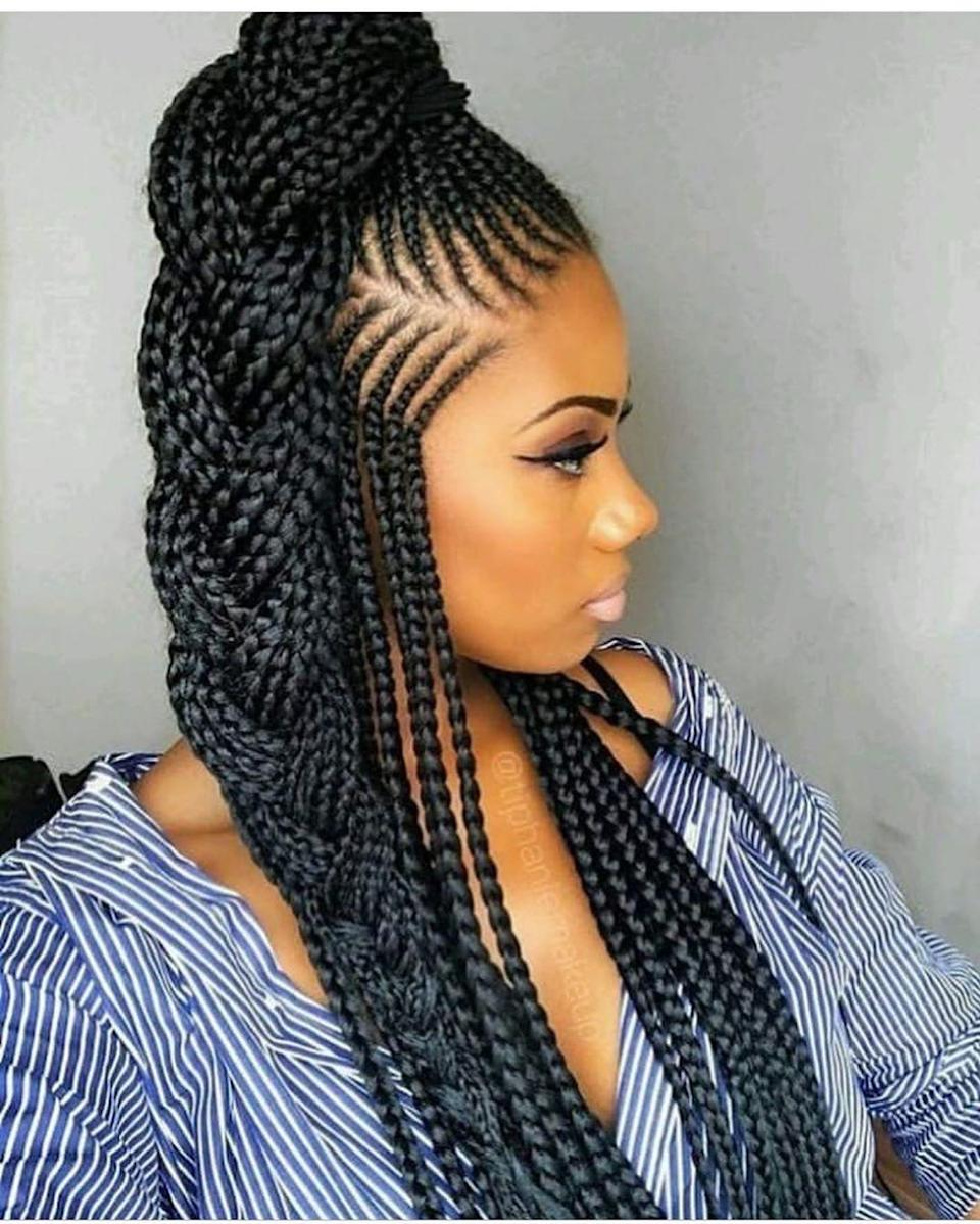 Goddess braids plus a chic high, braided pony are what dreams are made of.