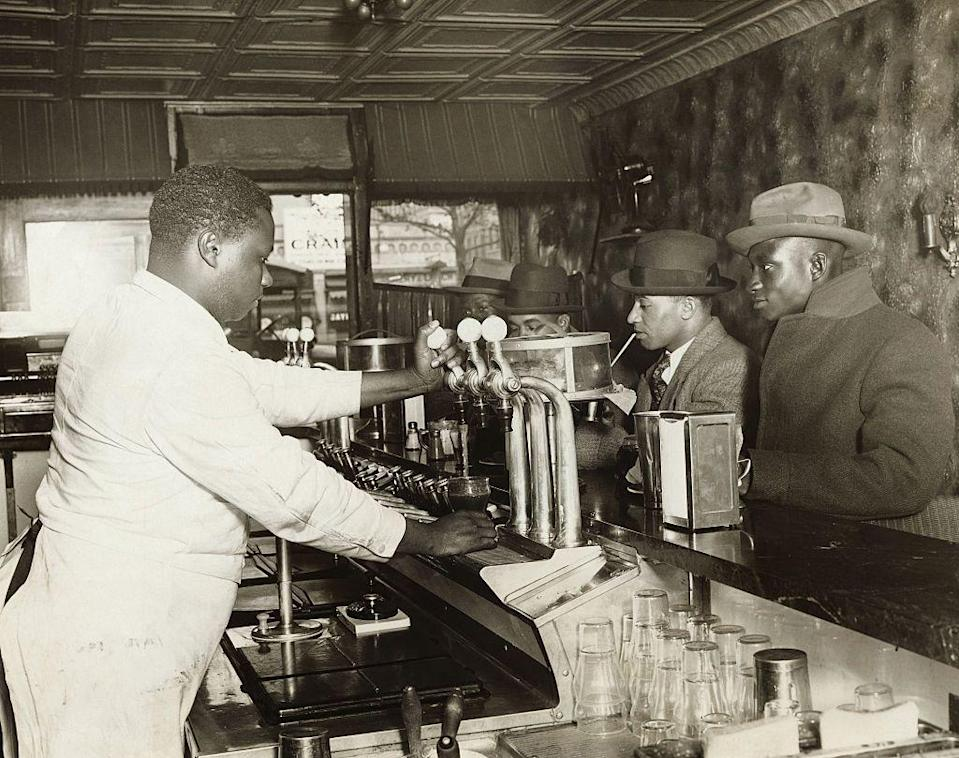 """<p>Soda fountains were a popular addition to diners as soda was a really popular drink back in the day. The so-called """"<a href=""""https://delrayshorespharmacy.com/pharmacy-history-of-the-american-soda-fountain"""" rel=""""nofollow noopener"""" target=""""_blank"""" data-ylk=""""slk:golden age of soda fountains"""" class=""""link rapid-noclick-resp"""">golden age of soda fountains</a>"""" went on until the 1950s. </p>"""
