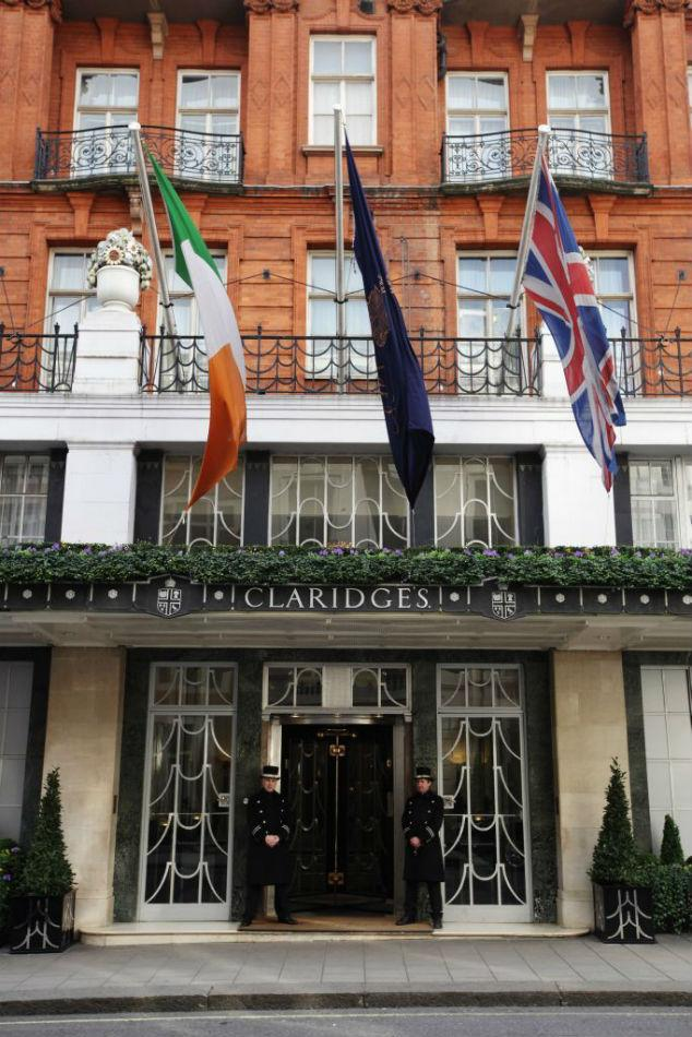 A general view of Claridge's Hotel in London, England.