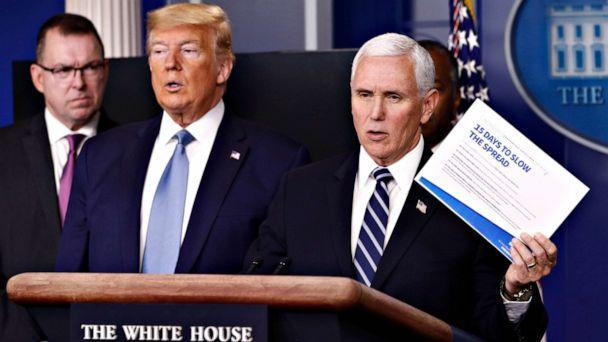 PHOTO: Vice President Mike Pence speaks during a coronavirus task force briefing at the White House, March 21, 2020, in Washington. (Patrick Semansky/AP)