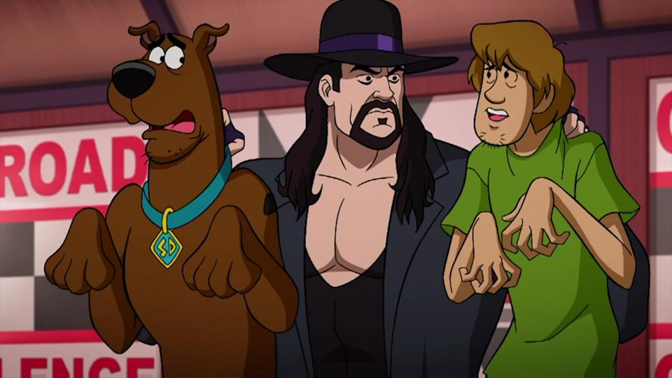 'Scooby-Doo! and WWE: Curse of the Speed Demon'. (Credit: Warner Bros)