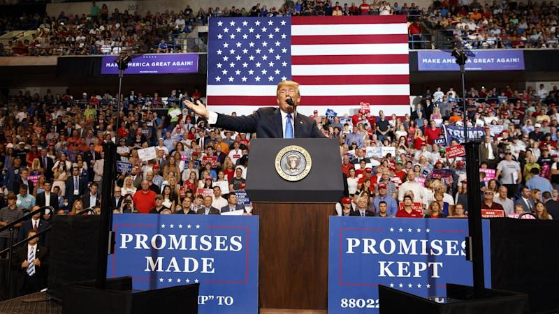 US President Donald Trump has unleashed his fury on the press at a packed rally in Pennsylvania