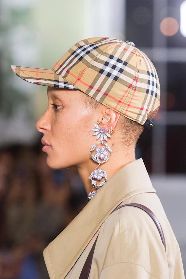 <p><i>Classic Burberry check print cap from the SS18 Burberry collection. (Photo: ImaxTree) </i></p>