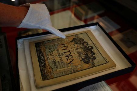 Exhibits are seen at the War Poets Collection at Craiglockhart, Edinburgh, Scotland, Britain, August 11, 2017. Picture taken August 11, 2017. REUTERS/Russell Cheyne
