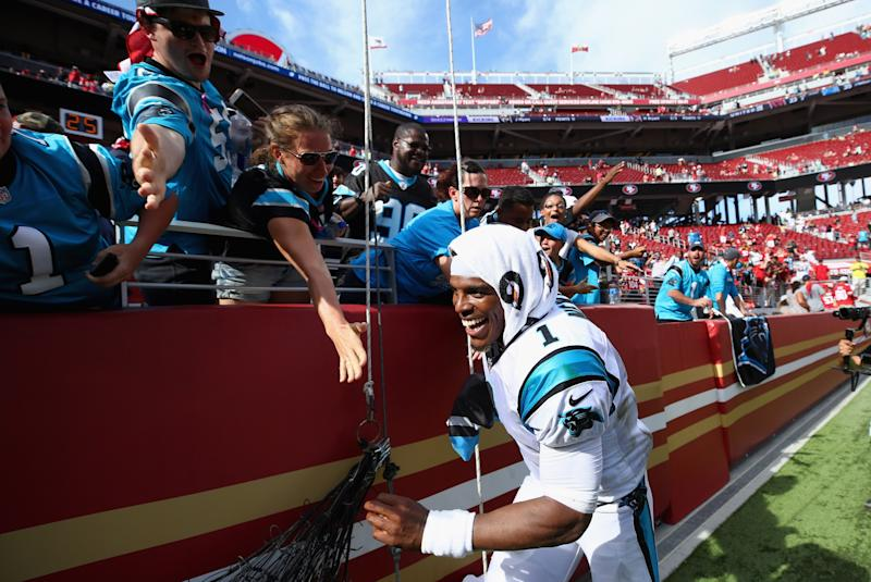Cam Newton has lost one endorsement from Dannon and was admonished by Gatorade for comments he made to a reporter. (Getty Images)