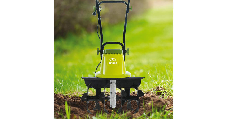 Sun Joe TJ603E 16-Inch 12-Amp Electric Tiller and Cultivator (Photo: Amazon)