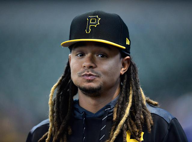 "<a class=""link rapid-noclick-resp"" href=""/mlb/players/8849/"" data-ylk=""slk:Chris Archer"">Chris Archer</a> #24 of the <a class=""link rapid-noclick-resp"" href=""/mlb/teams/pittsburgh/"" data-ylk=""slk:Pittsburgh Pirates"">Pittsburgh Pirates</a> looks on before the game against the <a class=""link rapid-noclick-resp"" href=""/mlb/teams/milwaukee/"" data-ylk=""slk:Milwaukee Brewers"">Milwaukee Brewers</a> on Sept. 21. (Quinn Harris/Getty Images)"
