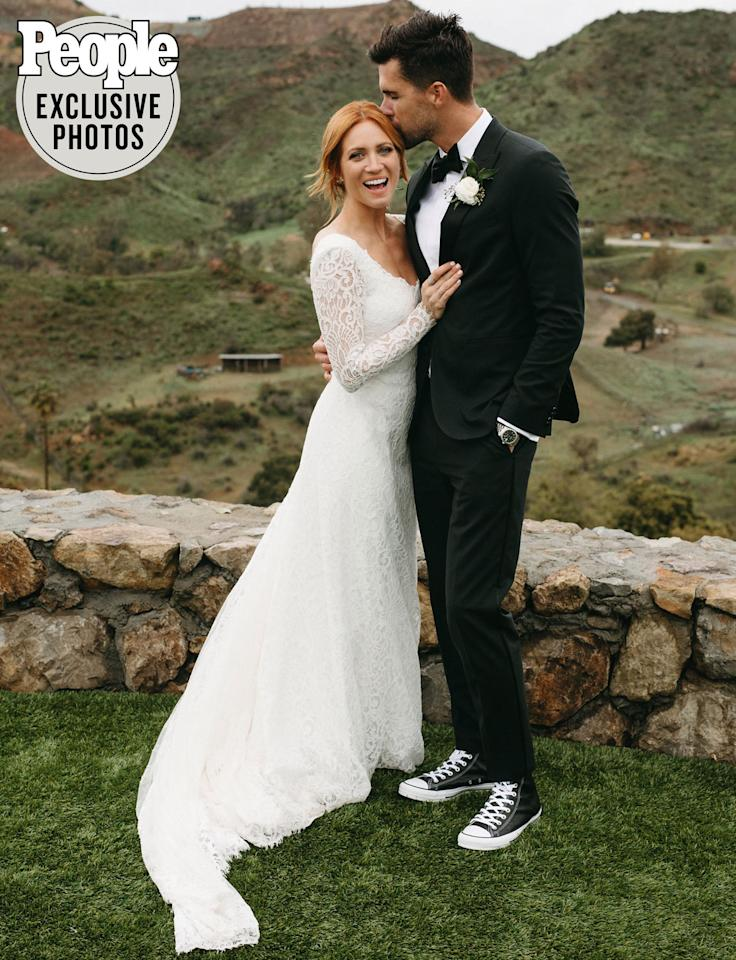 """<p>The<em> Pitch Perfect </em>actress <a href=""""https://people.com/movies/brittany-snow-marries-tyler-stanaland-malibu-wedding/"""">tied the knot</a> with her realtor fiancé in Malibu on March 14.</p> <p>The newlyweds celebrated with an intimate outdoor ceremony, as first reported by <em><a href=""""https://www.theknotnews.com/brittany-snow-marries-tyler-stanaland-43179"""">The Knot</a>.</em>The bride, who wore a Jonathan Simkhai gown for her ceremony, and groom, exchanged wedding bands by Tacori.</p> <p>Snow told PEOPLE in February that she and Stanaland, who planned their wedding with help from Hello Gem Events, wanted their ceremony to be """"<a href=""""https://people.com/movies/brittany-snow-dishes-on-her-upcoming-wedding-to-tyler-stanaland-the-vibe-is-very-comfort-food/"""">low-key and not stuffy.""""</a></p>"""